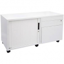 Go mobile steel caddy left hand 1050 x 460 x 570mm white