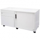 Rapidline mobile steel caddy right hand 1050 x 460 x 570mm white