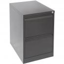 Go steel filing cabinet 2 drawer 460 x 620 x 705mm black ripple