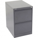 Go steel filing cabinet 2 drawer 460 x 620 x 705mm graphite ripple