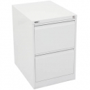 Go steel filing cabinet 2 drawer 460 x 620 x 705mm white china