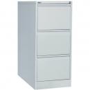 Go steel filing cabinet 3 drawer 460 x 620 x 1016mm sliver grey