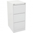 Go steel filing cabinet 3 drawer 460 x 620 x 1016mm white china