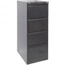 Go steel filing cabinet 4 drawer 460 x 620 x 1321mm black ripple