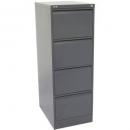 Go steel filing cabinet 4 drawer 460 x 620 x 1321mm graphite ripple