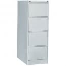 Go steel filing cabinet 4 drawer 460 x 620 x 1321mm silver grey