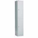 Go steel locker 2 door 305 x 455 x 1830mm silver grey