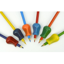 Stetro large pencil grips assorted colours