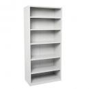 Go steel shelving unit 5 adjustable shelves 2200 x 900 x 400mm silver grey