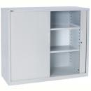 Go steel tambour door cupboard 2 shelves 1200 x 473 x 1016mm white china