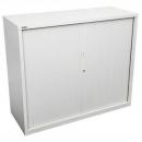 Go steel tambour door cupboard no shelves 1200 x 473 x 1016mm white china
