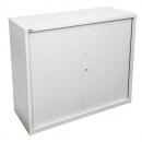 Go steel tambour door cupboard no shelves 900 x 473 x 1016mm white china