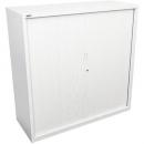 Go steel tambour door cupboard 2 shelves 1200 x 473 x 1200mm white china