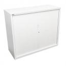 Go steel tambour door cupboard no shelves 1200 x 473 x 1200mm white china