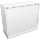 Go steel tambour door cupboard 2 shelves 900 x 473 x 1200mm white china
