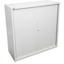 Go steel tambour door cupboard no shelves 900 x 473 x 1200mm white china