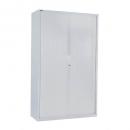 Go steel tambour door cupboard no shelves 900 x 473 x 1981mm white china