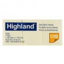 Highland self-stick notes 34.9 x 47.6mm yellow pack 12