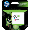 Hp 60xl inkjet cartridge high yield tri-colour