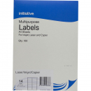 Initiative multipurpose labels 14 per sheet 99.1 X 38.1mm box 100 sheets