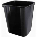 Italplast plastic waste bin 32 litre black