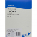 Initiative multipurpose labels 21 per sheet 63.5 x 38.1mm box 100 sheets