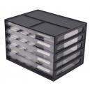 Italplast document cabinet 5 drawer A4 black