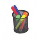 Italplast wire mesh pen pencil cup black