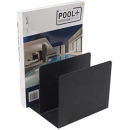 Italplast metal book rack black