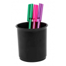 Italplast plastic pen pencil cup black