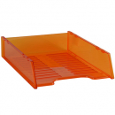 Italplast multi fit document tray A4 tinted orange