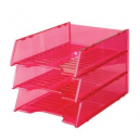 Italplast multi fit document tray A4 tinted pink