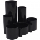 Italplast desk tidy 6 compartment black