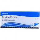 Initiative plastic binding comb A4 21 loop 10mm box 100 black