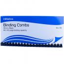 Initiative plastic binding comb A4 21 loop 16mm box 100 black