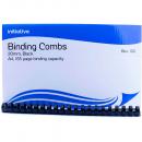 Initiative plastic binding comb A4 21 loop 20mm box 100 black