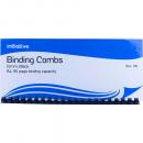 Initiative plastic binding comb A4 21 loop 6mm box 100 black