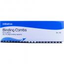 Initiative plastic binding comb A4 21 loop 8mm box 100 black