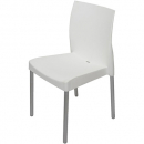 Leo poly chair with aluminium legs white