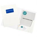Marbig presentation folders A4 white gloss box 50