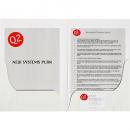 Marbig presentation folder A4 matt white box 50