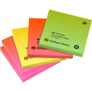 Marbig brilliant notes repositionable 75x75mm pack 5