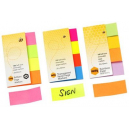 Marbig stick on page markers 20 x 50mm brilliant
