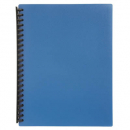 Marbig display book refillable A4 20 pocket blue