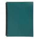 Marbig display book refillable A4 20 pocket dark green