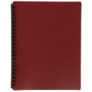 Marbig display book refillable A4 20 pocket maroon