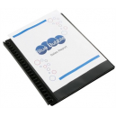 Marbig display book A4 refillable with insert cover black