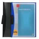 Marbig kwik clip file A4 blue