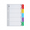 Marbig dividers board A5 5 tab reinforced