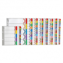 Marbig index divider reinforced manilla A4 A-Z tab assorted